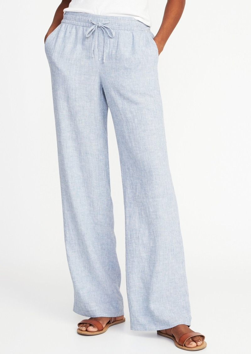 great deals on fashion 2019 real 2019 best sell Old Navy Striped Linen-Blend Soft Pants for Women | Casual Pants