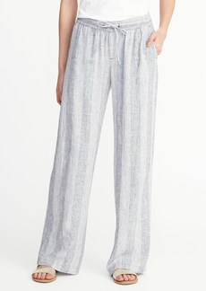 Old Navy Striped Linen-Blend Soft Pants for Women