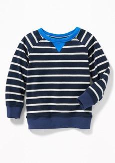 Old Navy Striped Raglan Crew-Neck Sweatshirt for Toddler Boys