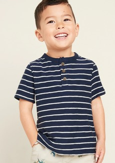 Old Navy Striped Slub-Knit Short-Sleeve Henley for Toddler Boys