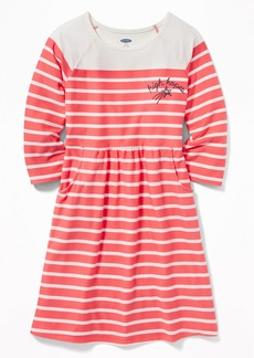 Old Navy Striped Soft-Brushed Jersey Fit & Flare Dress for Girls