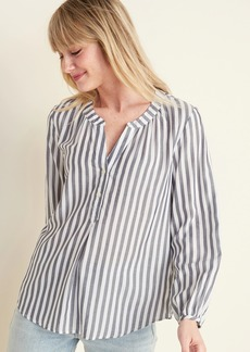 Old Navy Striped Split-Neck Pullover Top for Women