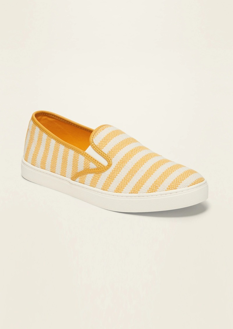 Old Navy Striped Textured Slip-Ons for Women