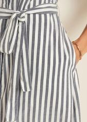 Old Navy Waist-Defined Tie-Belt Cap-Sleeve Shirt Dress for Women