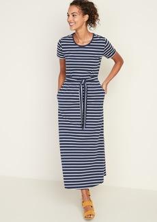 Old Navy Striped Tie-Belt Shift Dress for Women