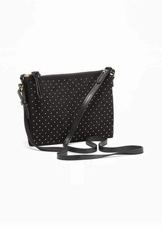 Old Navy Studded Double-Zip Crossbody Bag for Women