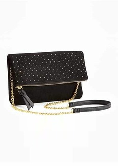 Old Navy Studded Fold-Over Clutch for Women