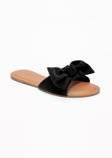 Old Navy Sueded Bow-Tie Slide Sandals for Women