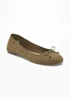 Old Navy Sueded Classic Ballet Flats for Women