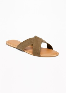 Old Navy Sueded Cross-Strap Slide Sandals for Women