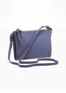 Old Navy Sueded Double-Zip Crossbody Bag for Women