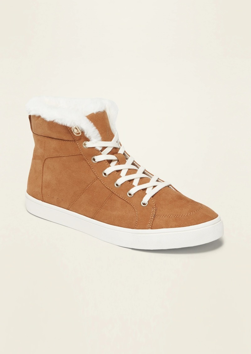 Old Navy Sueded Faux-Fur-Lined High-Tops for Women