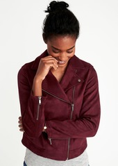 0165635900 ... Old Navy Sueded-Knit Moto Jacket for Women ...