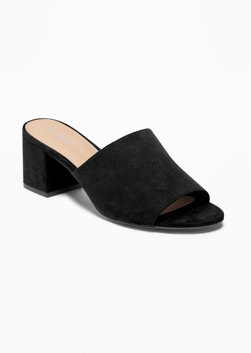 Old Navy Sueded Mule Block-Heel Sandals for Women