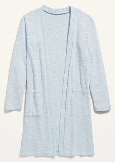 Old Navy Super-Long Open-Front Marled Sweater for Girls
