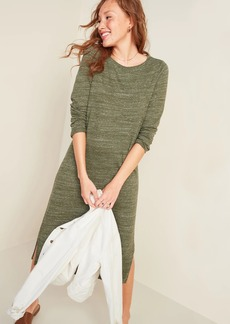 Old Navy Sweater-Knit Jersey Long-Sleeve T-Shirt Shift Dress