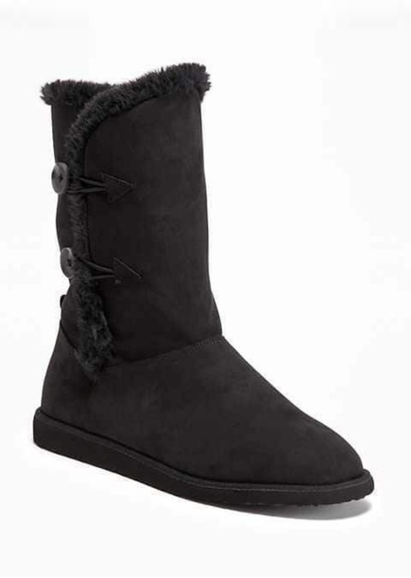 Old Navy Tall Sherpa-Lined Boots for Women