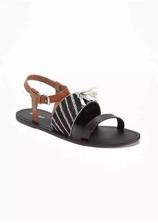 Old Navy Tasseled Slide Sandals for Women