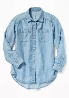 Old Navy Tencel&#174 Chambray Tunic Shirt for Girls