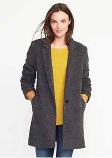 Textured-Bouclé Everyday Coat for Women