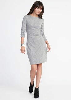 Textured Double-Knit Sheath Dress for Women