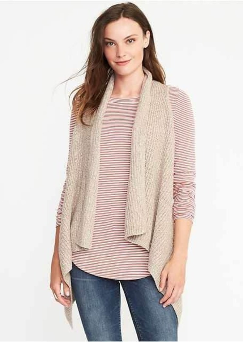Old Navy Textured Drape-Front Sweater Vest for Women | Sweaters ...