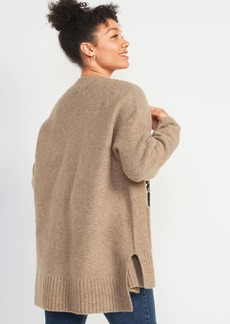 Old Navy Textured Garter-Stitch Open-Front Cardigan Coat for Women