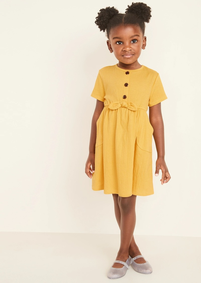 Old Navy Textured Jersey Fit & Flare Dress for Toddler Girls