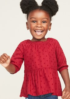 Old Navy Textured Peplum-Hem Swing Top for Toddler Girls