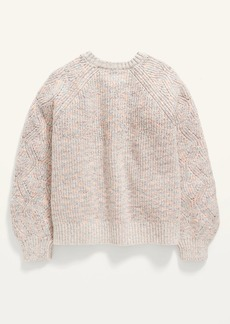 Old Navy Textured Shaker-Stitch Space-Dye Sweater for Girls