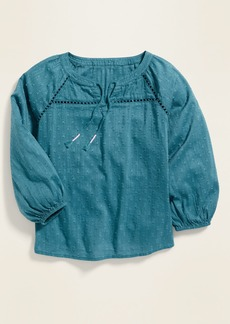 Old Navy Textured Tie-Neck Blouse for Girls