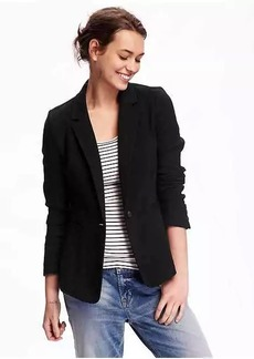 Textured-Twill Blazer for Women