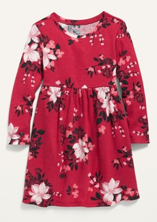 Old Navy Thermal-Knit Long-Sleeve Fit & Flare Dress for Toddler Girls