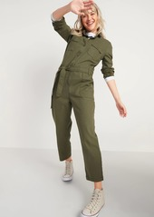 Old Navy Tie-Belt Utility Canvas Jumpsuit for Women