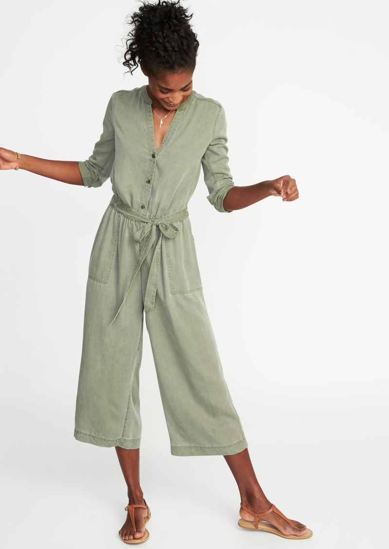 dfa8a718cbc Old Navy Tie-Belt Waist-Defined Tencel  174 Utility Jumpsuit for Women