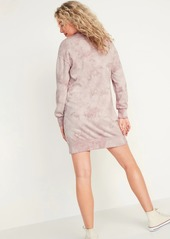 Old Navy Tie-Dyed Sweatshirt Shift Dress for Women
