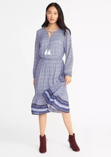 Tie-Neck Boho Dress for Women