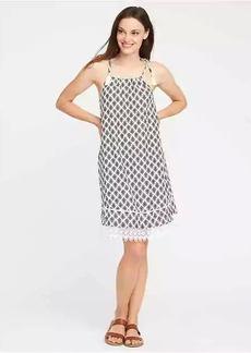 Tie-Shoulder Swing Dress for Women