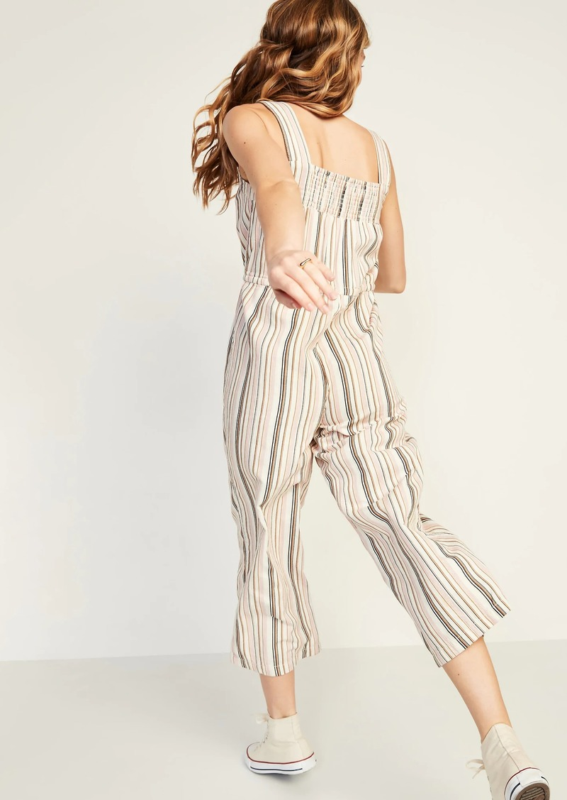 Old Navy Tie-Waist Striped Sleeveless Jumpsuit for Women