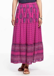Old Navy Tiered Boho Maxi Skirt for Women