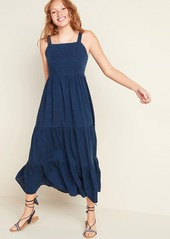 Old Navy Tiered Chambray Cami Fit & Flare Maxi Dress for Women