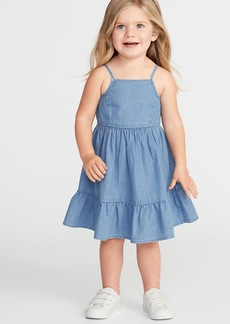 Old Navy Tiered Chambray Fit & Flare Dress for Toddler Girls