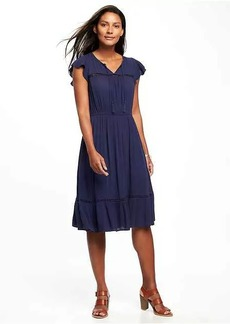 Tiered Flutter-Sleeve Dress for Women