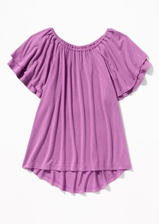 Old Navy Tiered Flutter-Sleeve Jersey Tunic for Girls