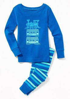Old Navy Train-Graphic Sleep Set for Toddler Boys & Baby