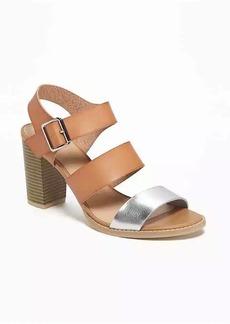 Old Navy Triple-Strap Block-Heel Sandals for Women