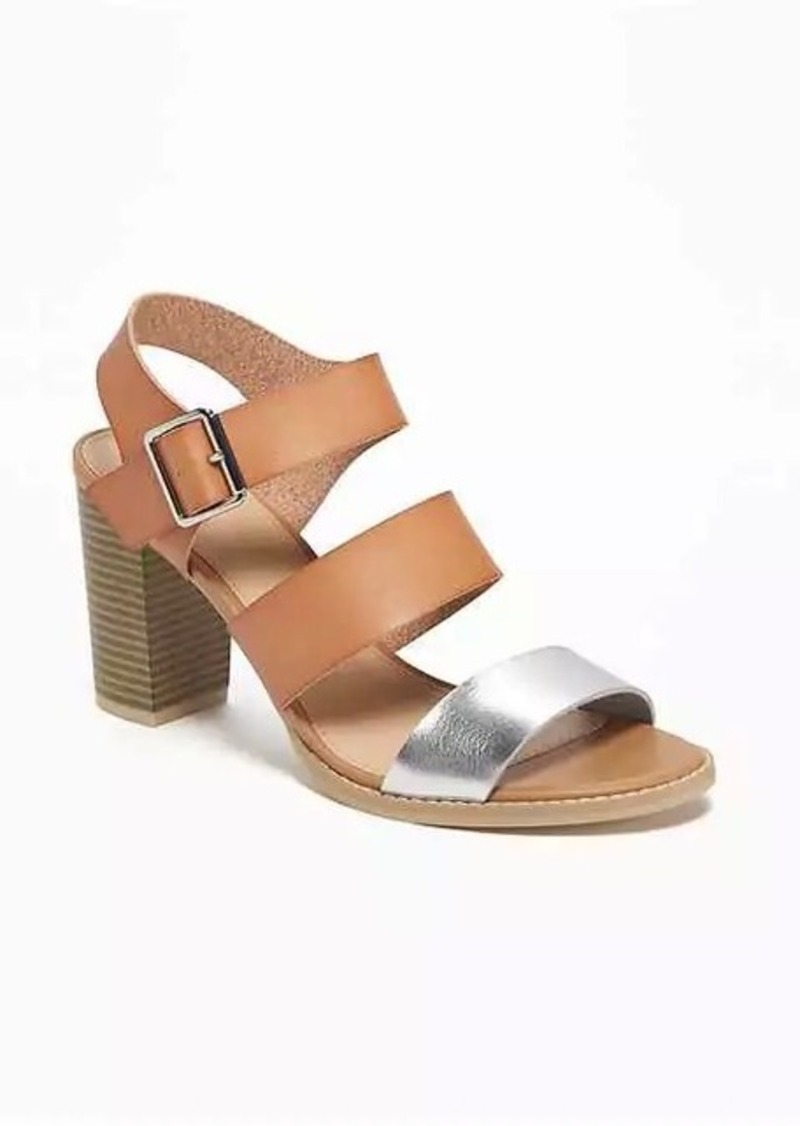 fdb9ba50cd5 Old Navy Triple-Strap Block-Heel Sandals for Women