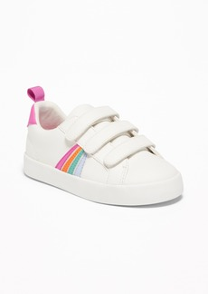 Old Navy Triple-Strap Rainbow-Stripe Sneakers For Toddler Girls