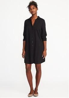 Twill Shirt Dress for Women