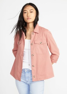 Twill Utility Swing Jacket for Women